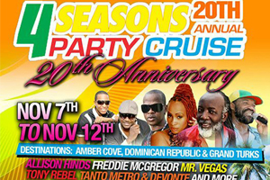 20th Annual 4 Seasons Party Cruise Nov 7th – 12th 2016! Book Early and Save $100 B4 Dec 30th!
