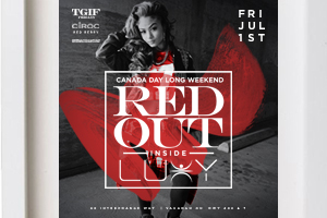 Friday July 1st TGIF Fridays @ Luxy Nightclub presents Canada Day Long Weekend RED OUT – Free b4 11:30 PM in Red & White | info: 416.839.5694
