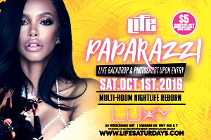 Saturday October 1st Life Saturdays inside Luxy present Paparazzi – Live Backdrop & Photoshoot Upon Entry