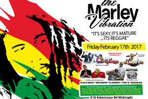 Friday February 17th Soca Sweetness + Lindo P + Jah Wigs Present The Marley Vibrations – It's Sexy, It's Mature…It's Reggae inside Rum Dairies, Ajax